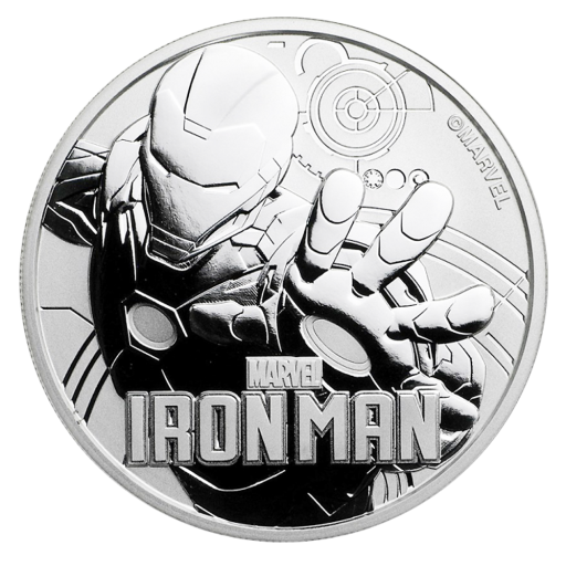1 oz Marvel's Ironman Silver Coin (2018)