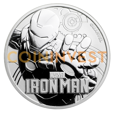 1 oz Marvel's Ironman | Plata | 2018