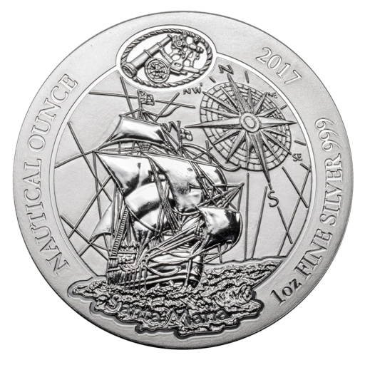 1 oz Nautical Ounce 'Santa Maria' Silver Coin (2017)