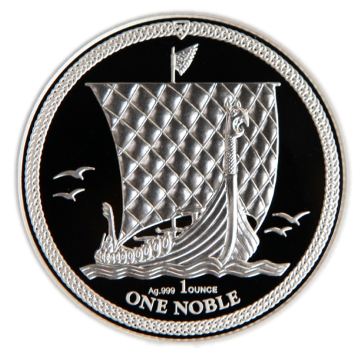 1 Uncja Wyspa Man Noble Srebrna Moneta | 2018 | Proof