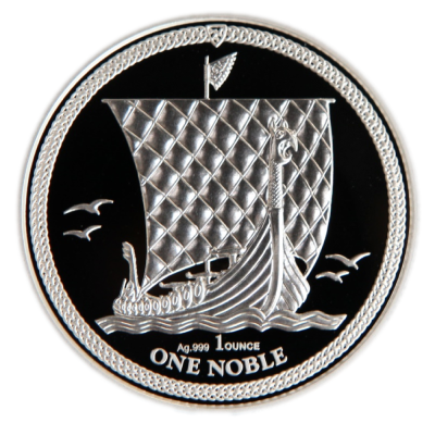 1 oz Noble Isle of Man Proof Silver Coin (2018)