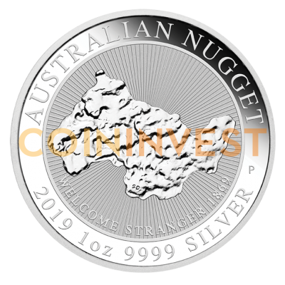 1 oz Nugget Welcome Stranger Silver Coin (2019)