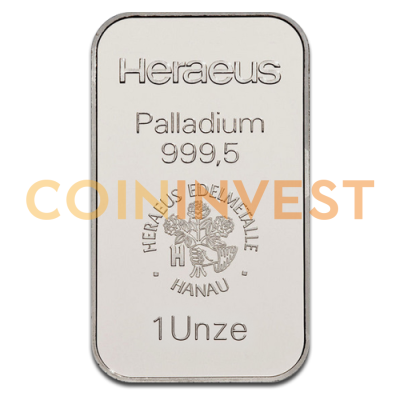 1 oz Palladium Bar