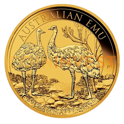 1 oz Perth Mint Emu Gold Coin (2019)