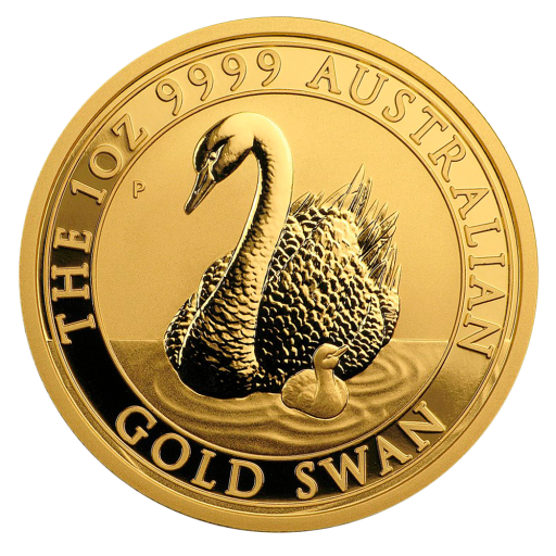 1 oz Perth Mint Gold Swan (2018)