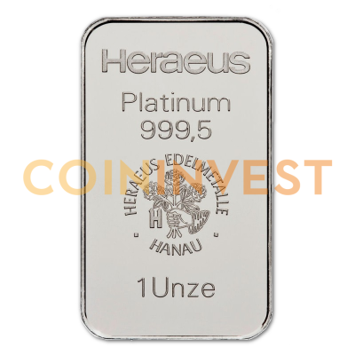 1 oz Platinum Bar | different manufacturers