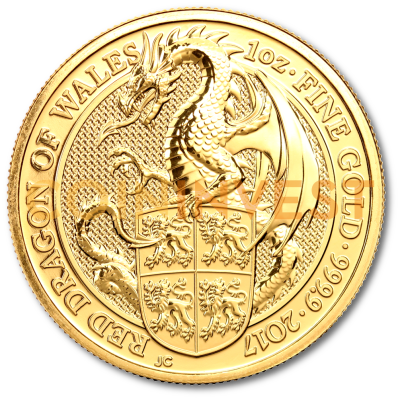 1 oz Queen's Beasts Dragon Gold Coin (2017)