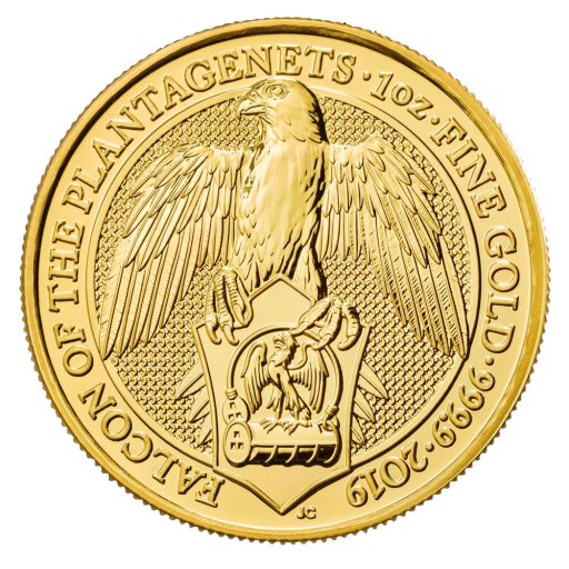 1 oz Queen's Beasts Falke Goldmünze (2019)