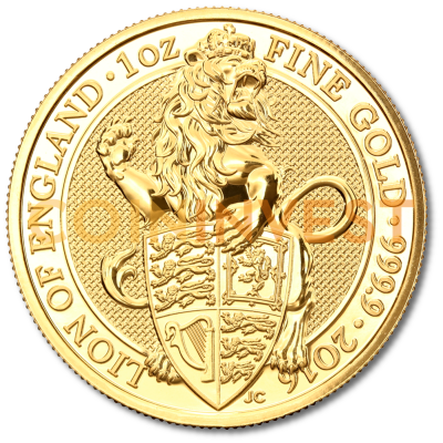 1 oz Queen's Beasts Lion | Or | 2016