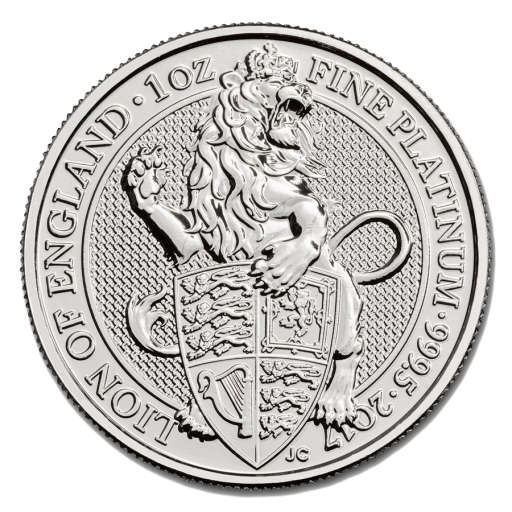 1 oz Queen's Beasts Löwe | Platin | 2017