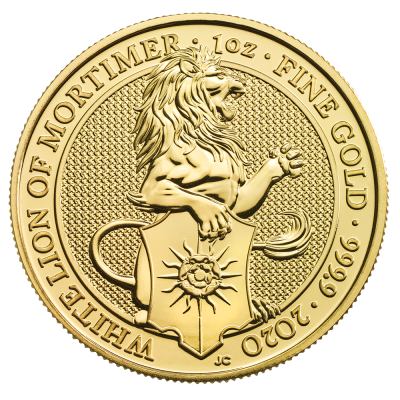 1 oz Queen's Beasts White Lion | Oro | 2020