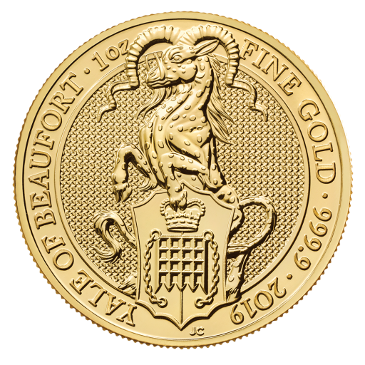 1 oz Queen's Beasts Yale of Beaufort | Oro | 2019