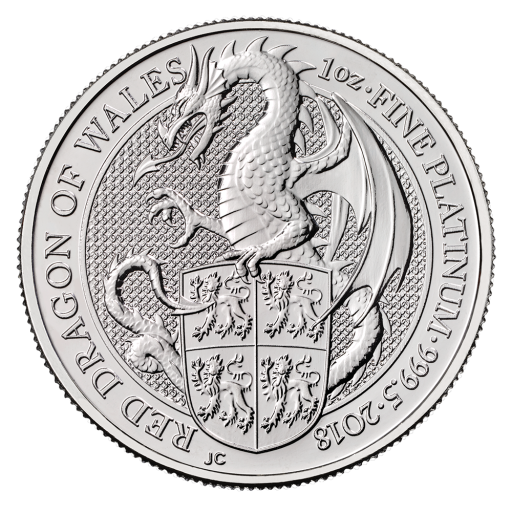 1 oz Queen's Beasts Drachen Platinmünze (2018)