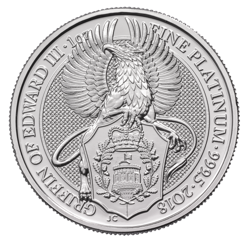 1 oz Queen's Beasts Greif | Platin | 2018