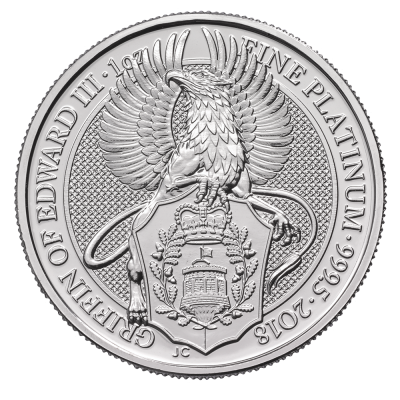 1 oz Queen's Beasts Griffin | Platinum | 2018