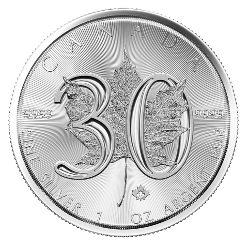 1 oz Maple Leaf 30° Anniversario Argento (2018)