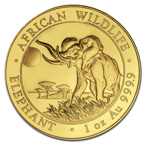 1 oz Somalia Elephant | Gold | 2016