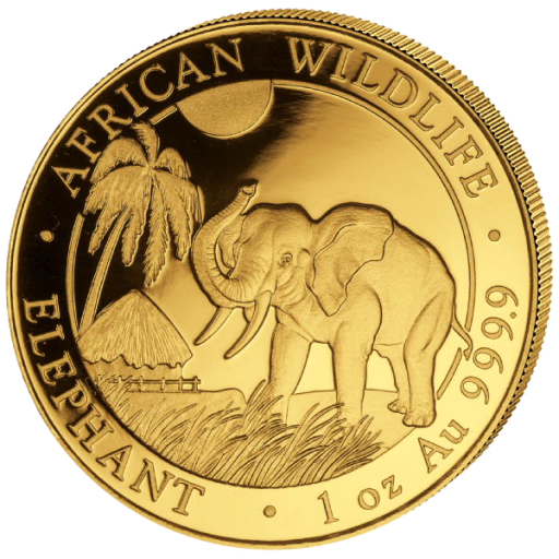 1 oz Somalischer Elefant | Gold | 2017