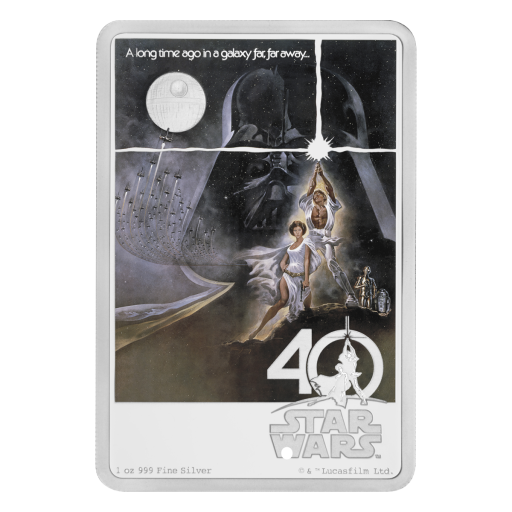1 oz Star Wars 2017 Silver Coin 40th Anniversary