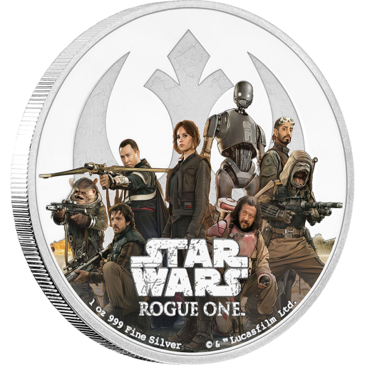 1 oz STAR WARS Rogue One - Ribellione | Argento | 2017