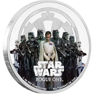 1 oz STAR WARS Rogue One - The Empire   Silver   2017