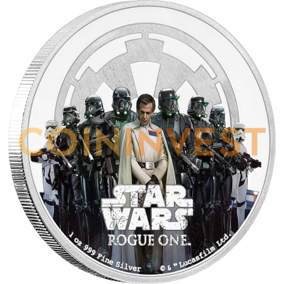 1 oz STAR WARS Rogue One - El Imperio | Plata | 2017