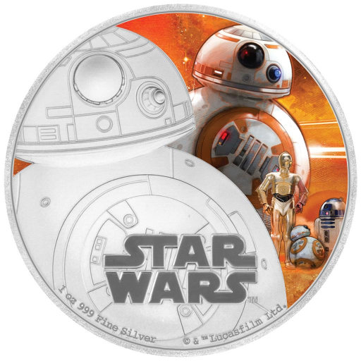 1 oz STAR WARS The Force Awakens - BB-8™ | Argento | 2016
