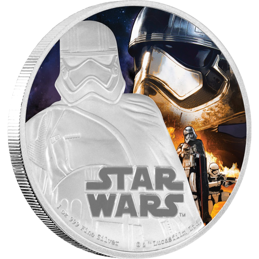 1 oz STAR WARS The Force Awakens - Captain Phasma™ | Argento | 2016