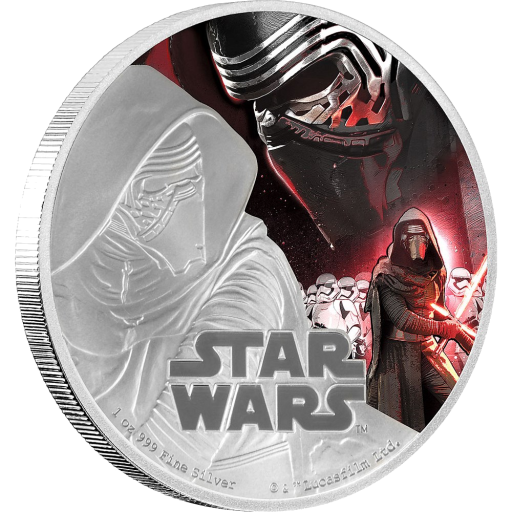 1 oz STAR WARS The Force Awakens - Kylo Ren™ | Plata | 2016