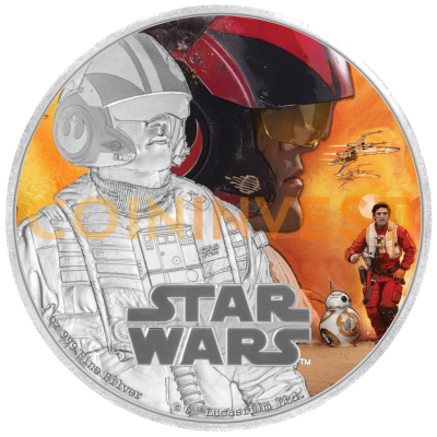 1 oz STAR WARS The Force Awakens - Poe Dameron™ | Plata | 2016
