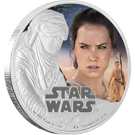 1 oz STAR WARS The Force Awakens - Rey™ | Plata | 2016