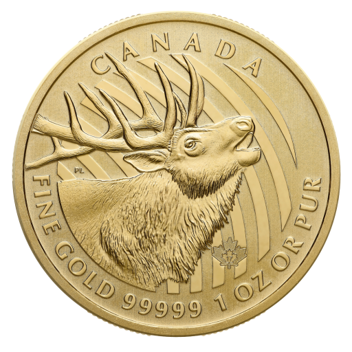 1 oz Call of the Wild The Elk .99999 Gold Coin (2017)