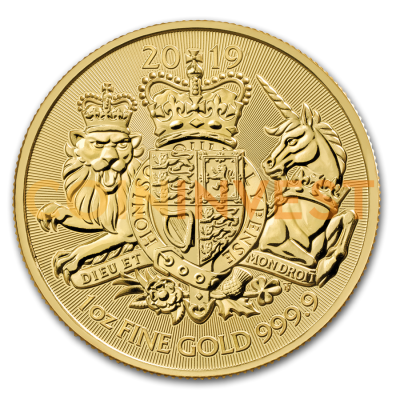 1 oz The Royal Arms Goldmünze (2019)