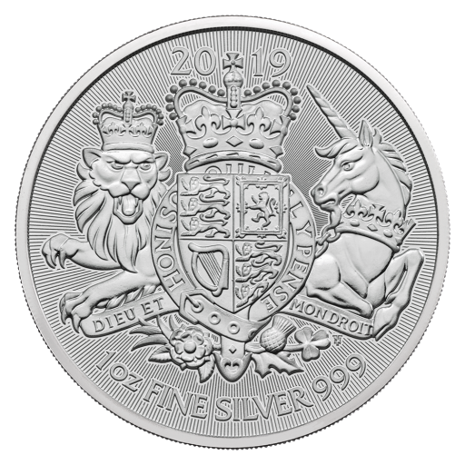 1 oz The Royal Arms Moneda de Plata (2019)
