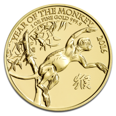 1 oz Lunar UK Year of the Monkey | Gold | 2016 | Second Choice