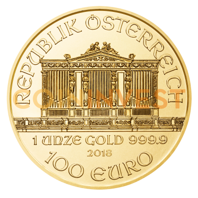 1 oz Vienna Philharmonic Gold Coin (2018)