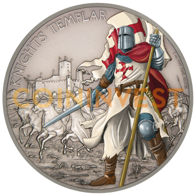 1 oz Warriors Of History - Chevaliers Templiers | Argent | 2016