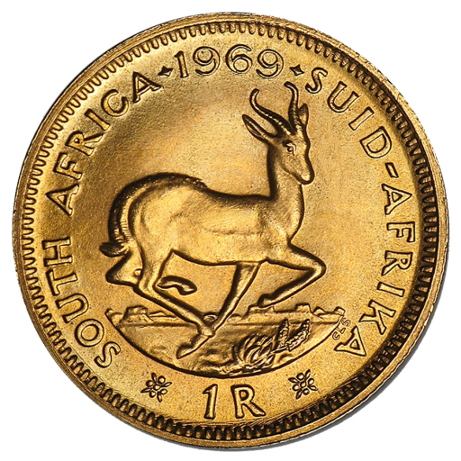 South African 1 Rand Gold Coin (1961 - 1983)