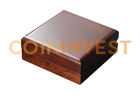 1 x 1 oz Silver Wooden Coin Box