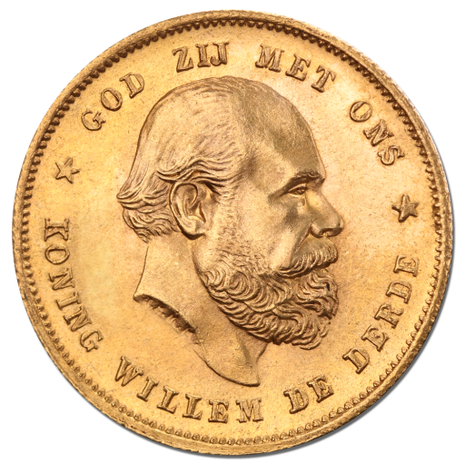 10 Dutch Guilders Willem III | Gold | 1875-1889