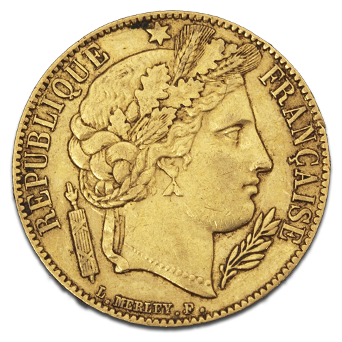 10 French Franc Cérès 2nd Republic | Gold | 2nd choice | 1848-1852