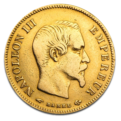 10 French Francs Napoleon III | Gold | 2nd choice | 1854-1860