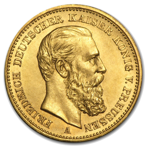 10 Mark | Kaiser Friedrich III Prusse | Or | 1888