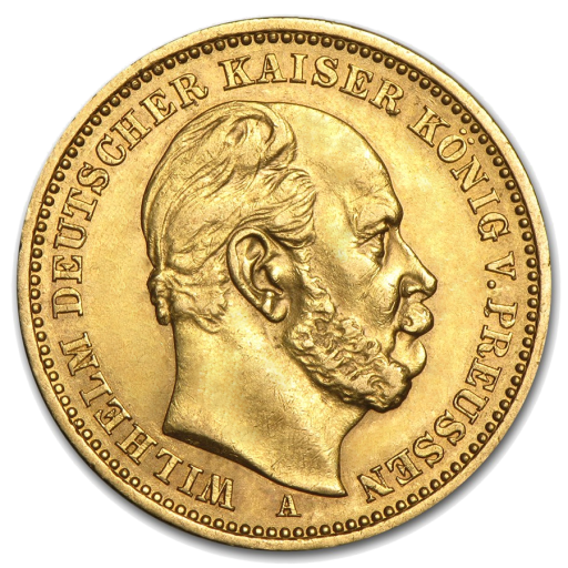 10 Mark Emperor Wilhelm I Prussia Gold Coin (1873-1888)