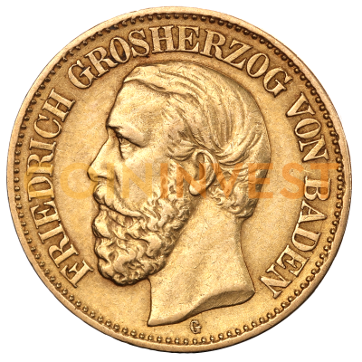 10 Mark Grand Duke Friedrich I Baden | Gold | 1872-1901