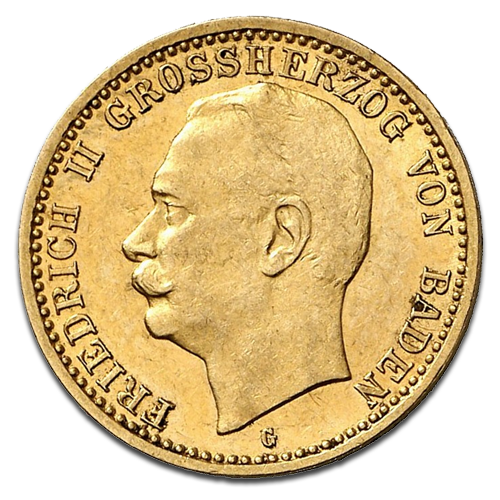 10 Mark Grand Duke Friedrich II Baden | Gold | 1907-1918