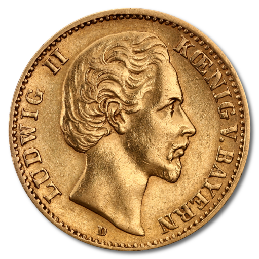 10 Mark King Ludwig II Bavaria | Gold | 1874-1886
