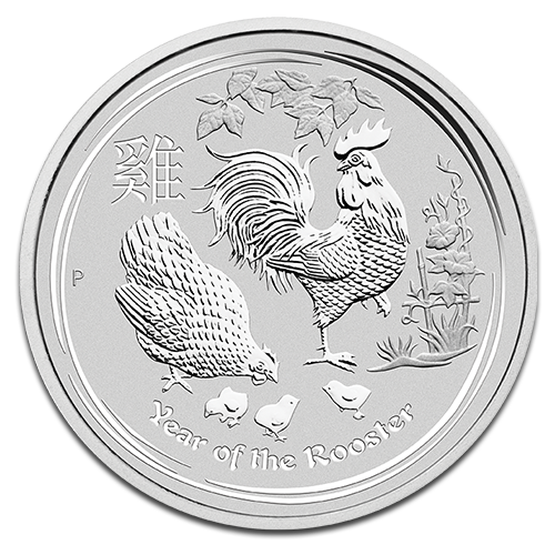 10 oz Lunar II Gallo | Plata | 2017