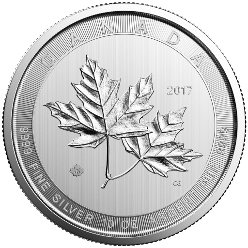 10 oz Maple Leaf Silbermünze