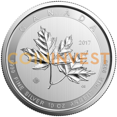 10 Oz Maple Leaf Silbermünze Coininvest